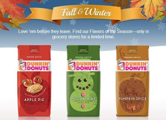 Dunkin Donuts Fall Winter Seasonal Flavors www.InTheKitchenWithKP #ad