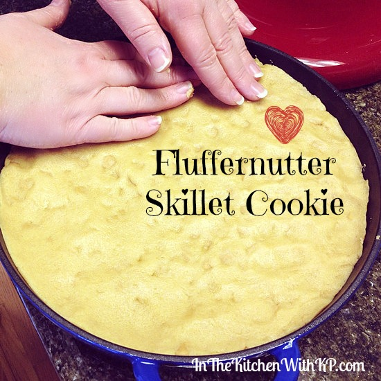 Fluffernutter Skillet Cookie #recipe #HolidayButter #shop www.InTheKitchenWithKP 3