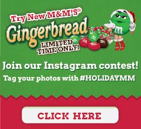 Gingerbread MMs Instagram Contest #ad #Shop #cbias