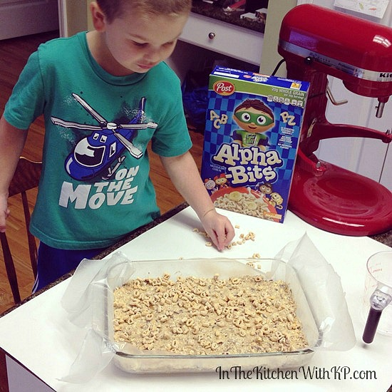 Homemade Super Nutty #alphabits Cereal Bars #recipe www.InTheKitchenWithKP 1