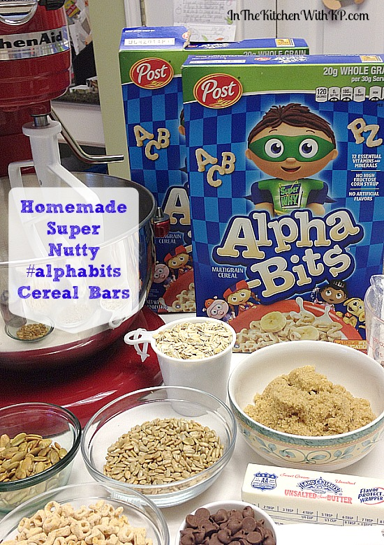 Homemade Super Nutty #alphabits Cereal Bars #recipe www.InTheKitchenWithKP 2