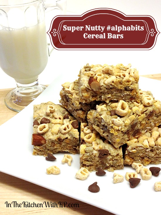 Homemade Super Nutty #alphabits Cereal Bars #recipe www.InTheKitchenWithKP 5