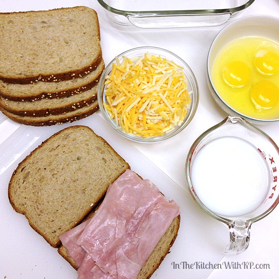 Overnight Ham, Egg and Cheese Bake #recipe www.InTheKitchenWithKP 5