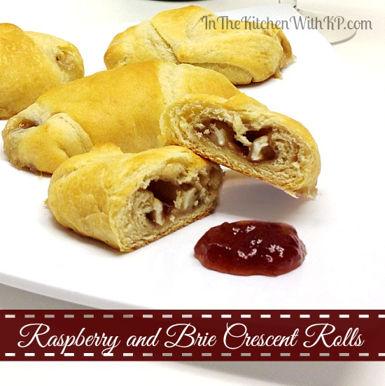 Raspberry and Brie Crescent Rolls #recipe #appetizer www.InTheKitchenWithKP 1
