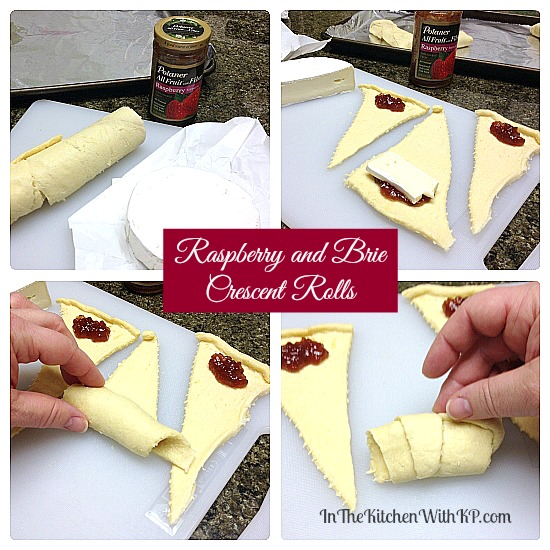 Raspberry and Brie Crescent Rolls #recipe #appetizer www.InTheKitchenWithKP 2
