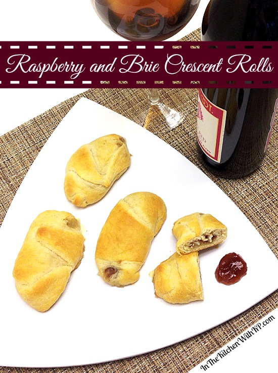 Raspberry and Brie Crescent Rolls #recipe #appetizer www.InTheKitchenWithKP 3