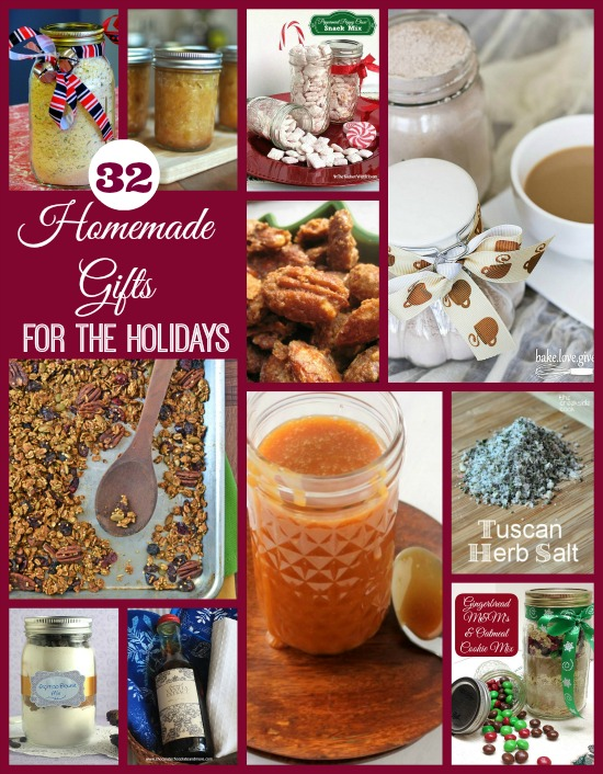 32 Homemade Gifts for the Holidays #recipes #DIY www.InTheKitchenWithKP