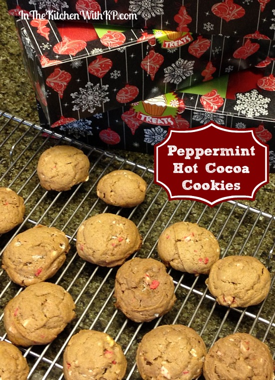 Peppermint Hot Cocoa Cookies #recipe www.InTheKitchenWithKP2