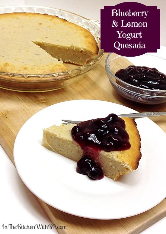 Blueberry and Lemon Yogurt Quesada #recipe #tapas #dessert www.InTheKitchenWithKP 2