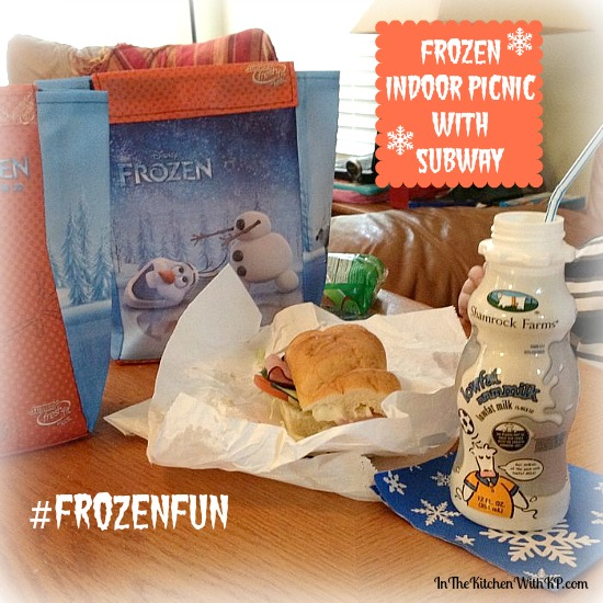 FROZEN Indoor Picnic with SUBWAY #FrozenFun #shop www.InTheKitchenWithKP 1