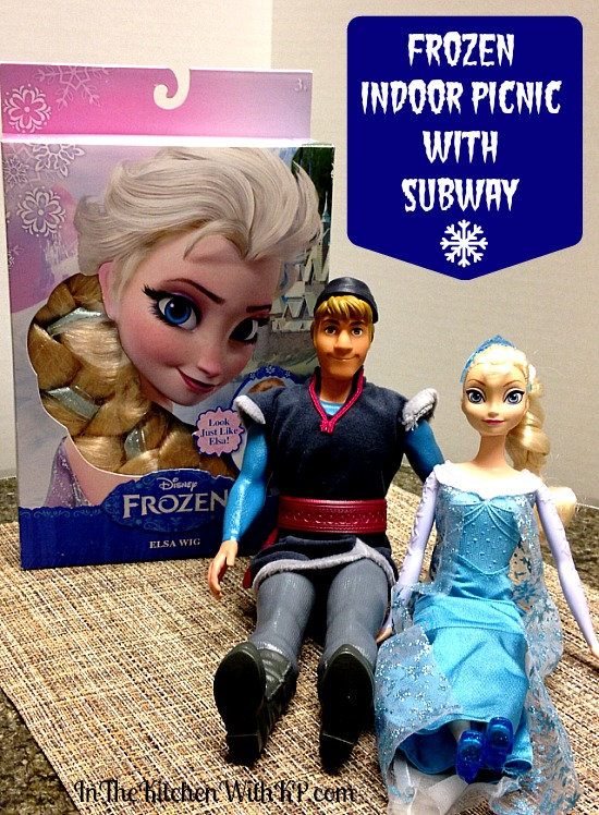 FROZEN Indoor Picnic with SUBWAY #FrozenFun #shop www.InTheKitchenWithKP 4