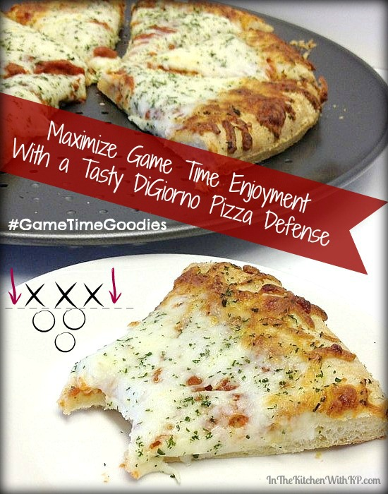 Game Time Enjoyment With a Tasty DiGiorno Pizza Defense #GameTimeGoodies #shop www.InTheKitchenWithKP 2