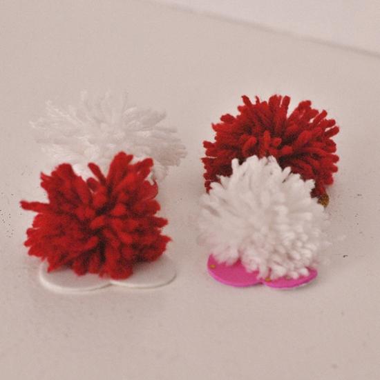Pom Pom Monsters Kid Craft for Valentine's Day #craft www.InTheKitchenWithKP 5