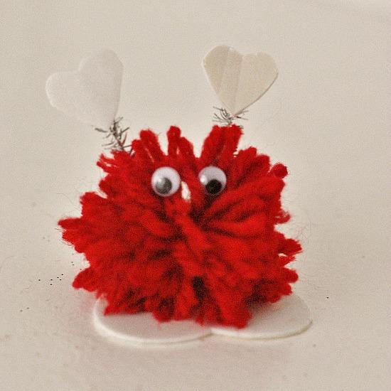 Pom Pom Monsters Kid Craft for Valentine's Day #craft www.InTheKitchenWithKP 8