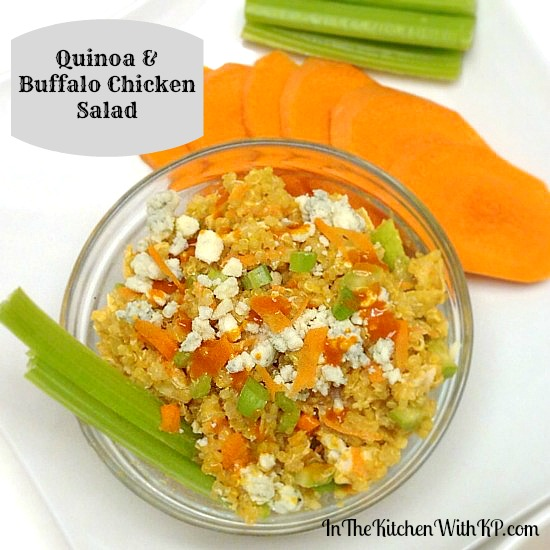Quinoa and Buffalo Chicken Salad #recipe www.InTheKitchenWithKP 2