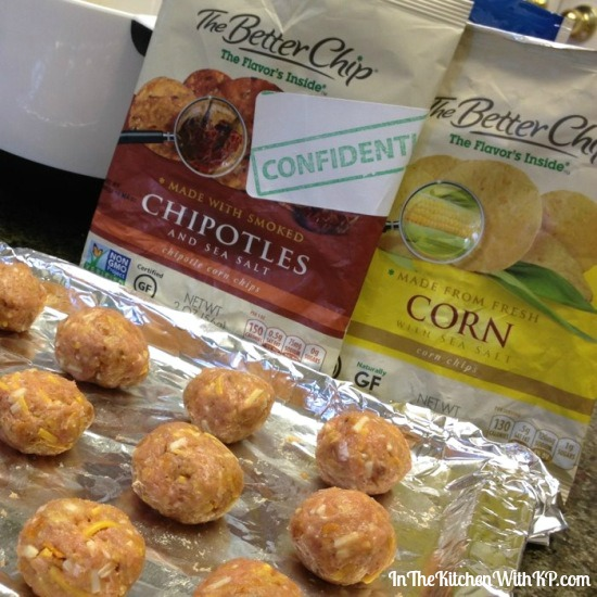 Chipotle Corn Chip Turkey Meatballs #recipe www.InTheKitchenWithKP 3