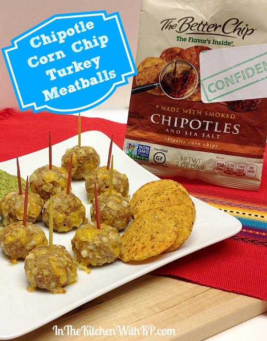 Chipotle Corn Chip Turkey Meatballs #recipe www.InTheKitchenWithKP 4