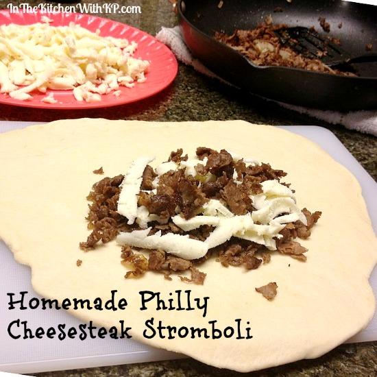 Homemade Philly Cheesesteak Stromboli #recipe www.InTheKitchenWithKP 2