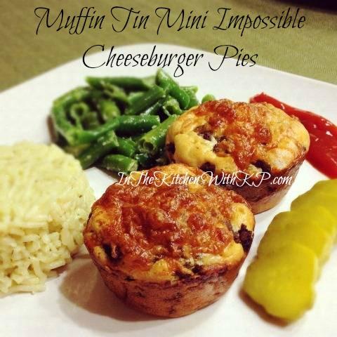Muffin-Tin-Mini-Impossible-Cheeseburger-Pie-#recipe www.InTheKitchenWithKP