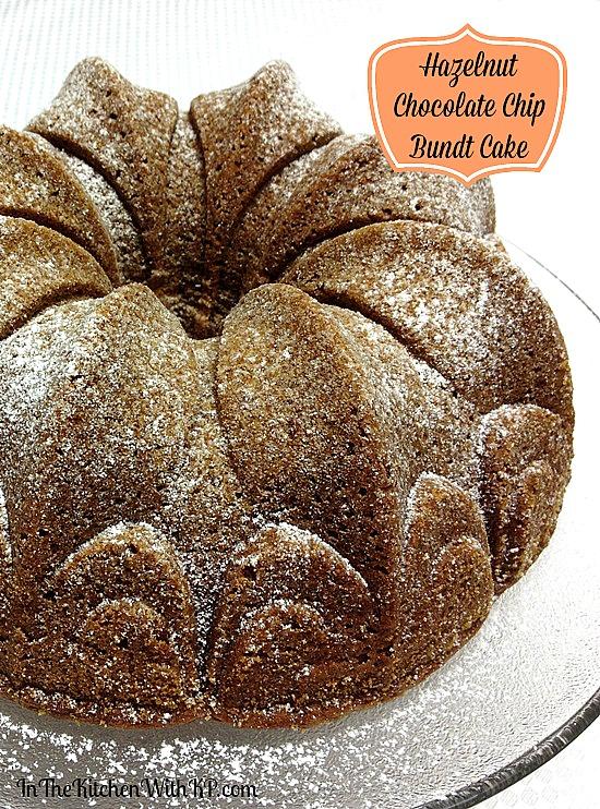 Hazelnut Chocolate Chip Bundt Cake #recipe www.InTheKitchenWithKP 1