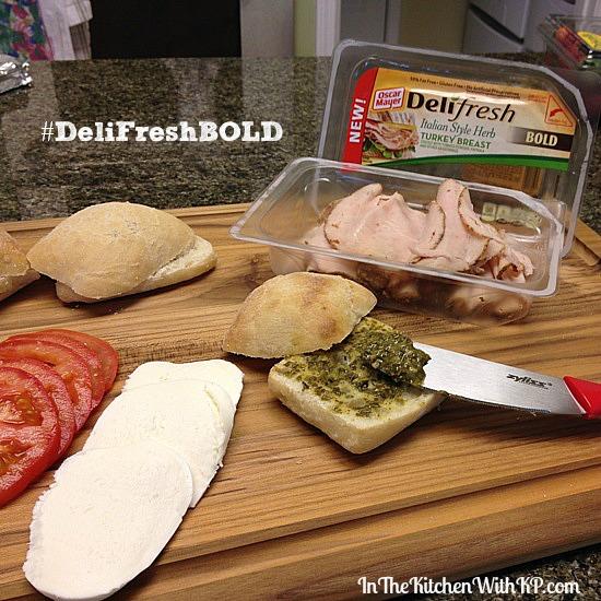 Toasted Tuscan Turkey Slider #DeliFreshBold 2