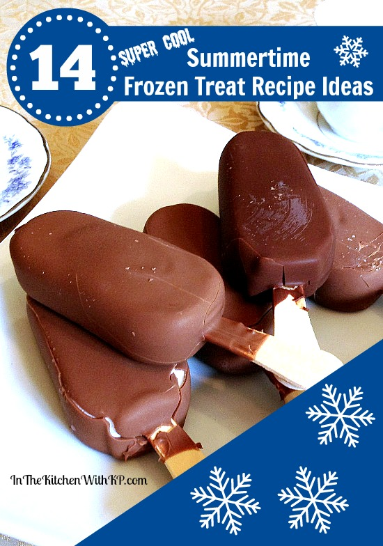 14 Super Cool Summertime Frozen Treat Recipe Ideas www.InTheKitchenWithKP