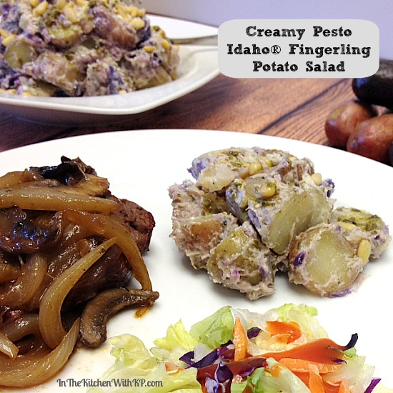 Creamy Pesto Idaho Fingerling Potato Salad #SundaySupper www.InTheKitchenWithKP #recipe 2