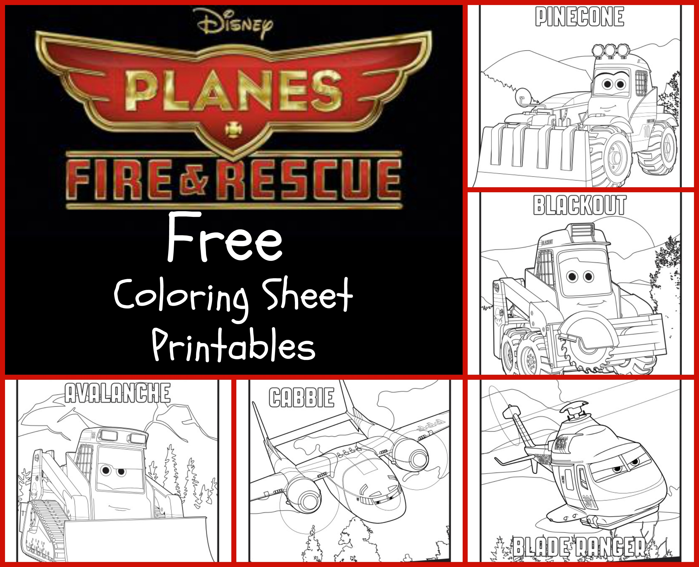 Planes Fire And Rescue Activity Printables In The