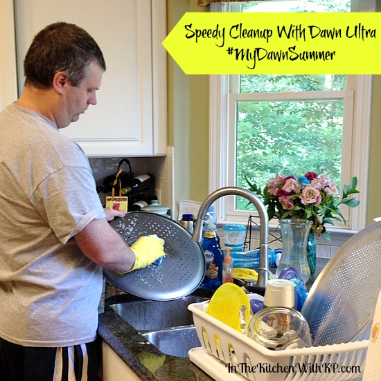 Speedy Cleanup With Dawn Ultra #MyDawnSummer 5