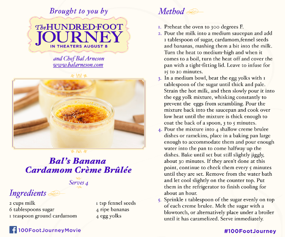 The Hundred-Foot Journey Movie #recipe www.InTheKitchenWithKP #CremeBrulee