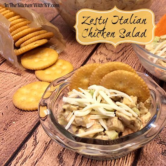 Zesty Italian Chicken Salad #RollIntoSavings #shop www.InTheKitchenWithKP #recipe #chicken 3