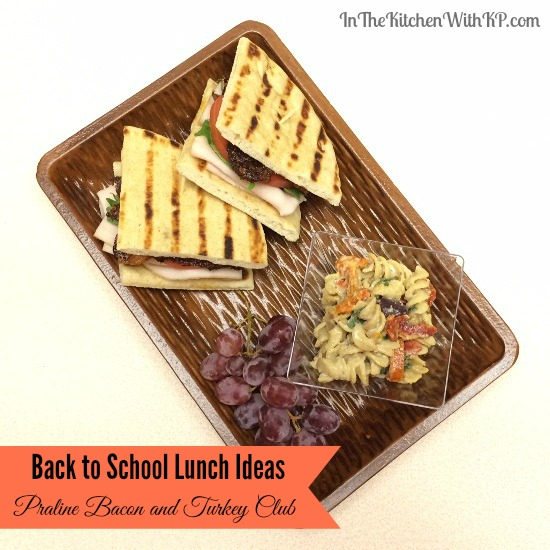 Back to School Lunch Idea Praline Bacon and Turkey Club www.InTheKitchenWithKP #HillshireNaturals 3