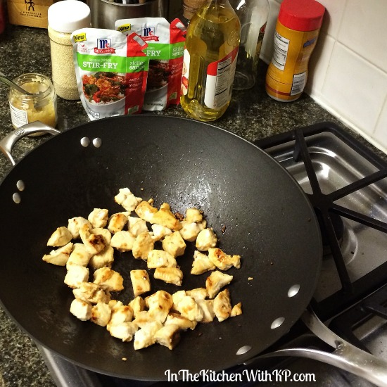Sesame Chicken Stir Fry with McCormick® Skillet Sauce www.InTheKitchenWithKP Easy Dinner Recipe 1