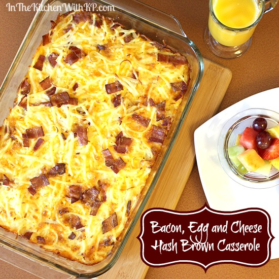 Easy Breakfast Casserole has hash browns, ham, cheese, and eggs. This hash brown breakfast casserole can be made overnight. Perfect for Christmas breakfast! Seriously, it took me longer to preheat my oven than it did for me to prepare this egg casserole. I used frozen hash browns, shredded.