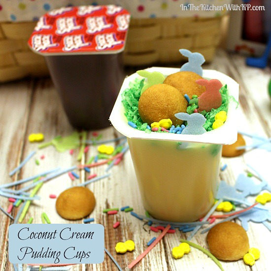 Coconut Cream Pudding Cups | In The Kitchen With KP | Candy Free Easter Basket Ideas