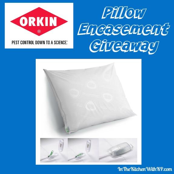 Pillow Encasement Giveaway www.InTheKitchenWithKP #LearnWithOrkin