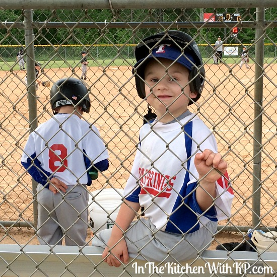 Rice Krispies Treats® Baseball Treat Bags   In The Kitchen With KP   Kid Snack Gift Bag Ideas