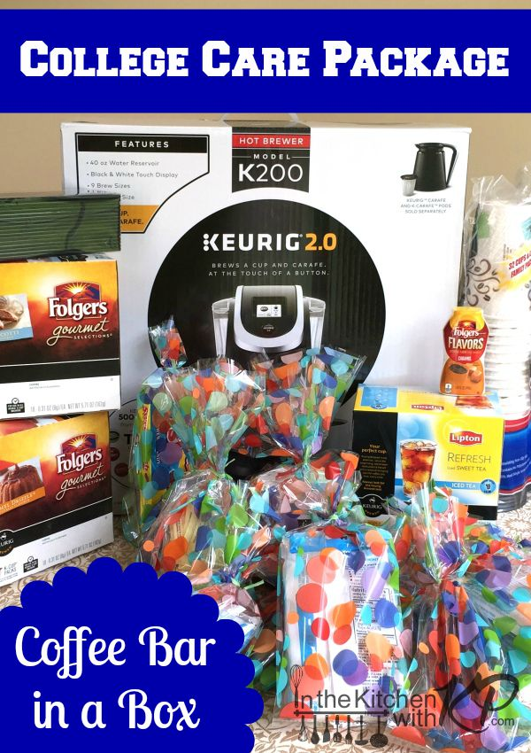 Creative College Care Package Coffee Bar in a Box | In The Kitchen With KP | Care Package Ideas