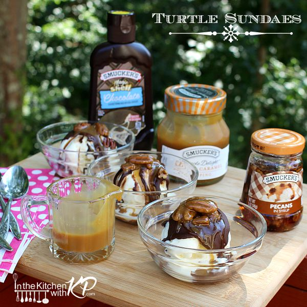 Turtle Sundaes | In The Kitchen With KP | Family Family Fun Ideas