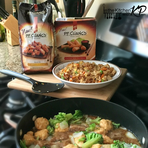 dinner in minutes with pf changs home menu items in the kitchen with kp - Changs Kitchen