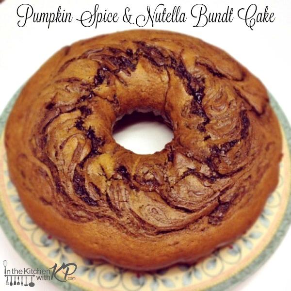 Pumpkin-Nutella-Bundt-In The Kitchen With KP Pumpkin Spice Recipes