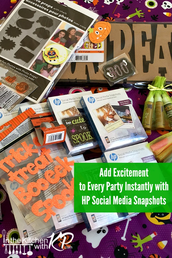 Add Excitement to Every Party Instantly with HP Social Media Snapshots | In The Kitchen With KP | Photo Booth Family Fun Ideas
