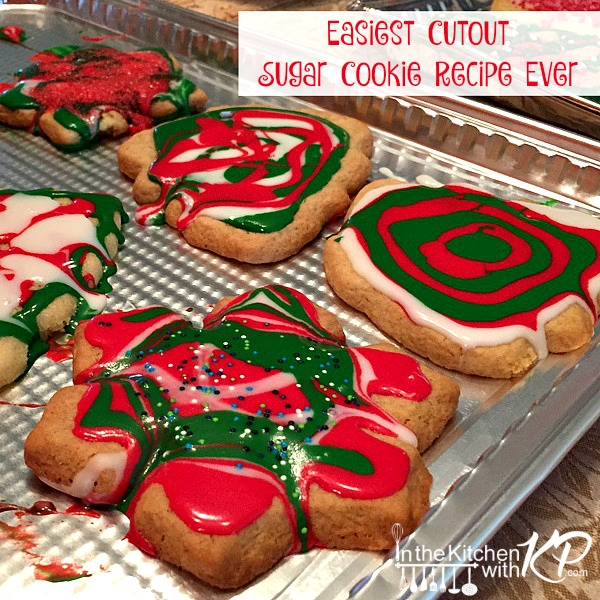 Easiest Cutout Sugar Cookie Recipe | In The Kitchen With KP | Family Fun Ideas